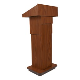 Adjustable Pneumatic Lectern w/o Mic - Mahogany