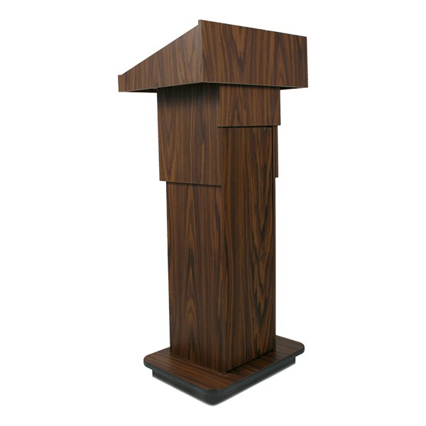 Adjustable Pneumatic Lectern w/o Mic - Walnut