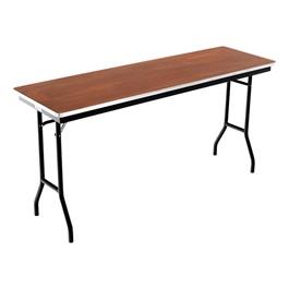 "Rectangle Folding Banquet Table w/ Aluminum Edge (18\"" W x 72\"" L)"