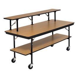 Double-Tier Mobile Folding Buffet Table