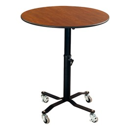 Round Mobile EZ-Tilt Adjustable-Height Cafe Tables