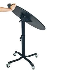 Round Mobile EZ-Tilt Adjustable-Height Cafe Tables - Folding