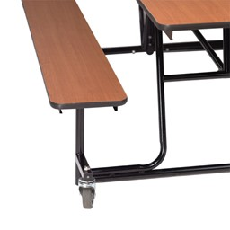 Mobile Bench Cafeteria Table - Bench access shown