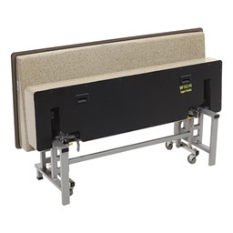 Mobile Folding Booth & Table Package - Gold Granite - Seat - Folded