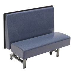 Mobile Folding Booth & Table Package - Blue Granite - Seat - Open