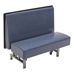 Mobile Folding Booth Seating - Blue Granite