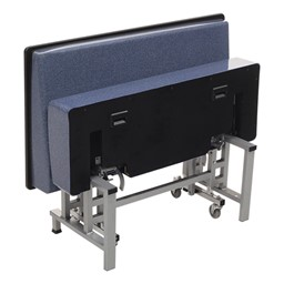 Mobile Folding Booth Seating - Blue Granite - Folded