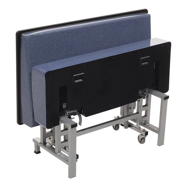 Mobile Folding Booth & Table Package - Blue Granite - Seat - Folded