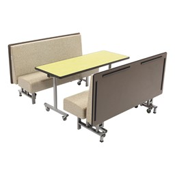 Mobile Folding Booth Seating - Gold Granite - Table not included