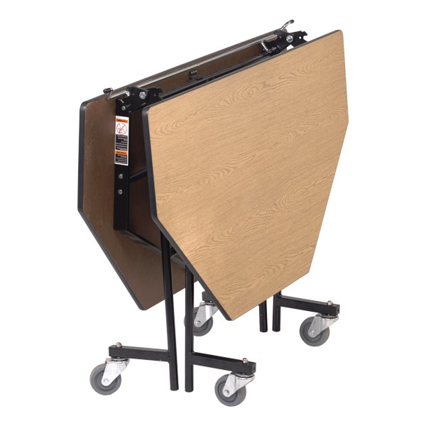 Mobile Cafeteria Table - Octagon - Shown folded