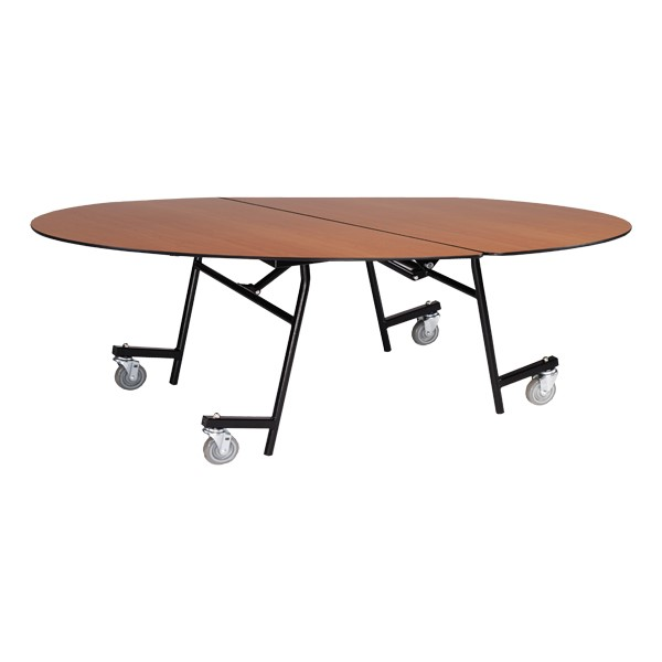 Mobile Cafeteria Table - Oval