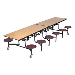Mobile Stool Cafeteria Table