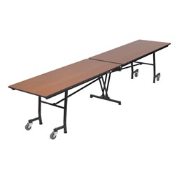 Rectangle Mobile Cafeteria Table