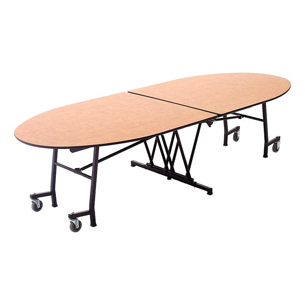 Elliptical Mobile Cafeteria Table