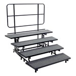 Mobile E-Z Riser w/ Back Rail - Four Levels
