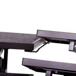 Mobile E-Z Riser w/ Back Rail - Three Levels - Coupling bracket detail