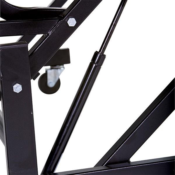 Mobile E-Z Riser w/ Back Rail - Three Levels - Gas cylinder detail