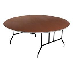 Round Folding Banquet Table w/ Aluminum Edge