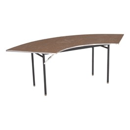 Serpentine Folding Banquet Table w/ Aluminum Edge