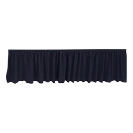 Shirred Pleat Stage Skirting - Black
