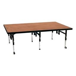 Adjustable-Height Portable Stage w/ Hardboard Deck