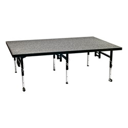 Adjustable-Height Portable Stage w/ Carpet Deck