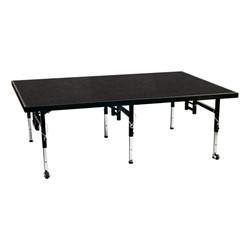 Adjustable-Height Portable Stage w/ Polypropylene Deck
