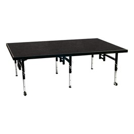 Adjustable-Height Portable Stage w/ Polypropylene Deck