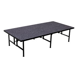 Fixed-Height Portable Stage w/ Carpet Deck