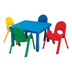 Square Value Table & Chair Set - Royal Blue table