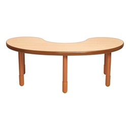 Kidney BaseLine Table - Natural Wood