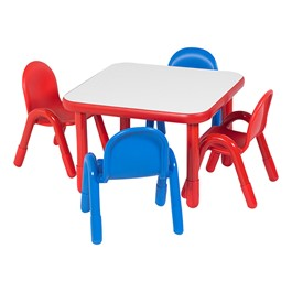 Angeles Corporation BaseLine Toddler Table & Chair Set at School ...