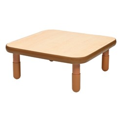 Square BaseLine Table - Natural Wood