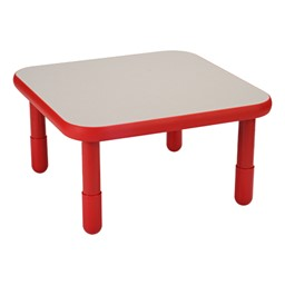 Square BaseLine Table - Candy Apple Red