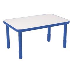 Rectangle BaseLine Table - Royal Blue
