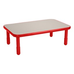 Rectangle BaseLine Table - Candy Apple Red
