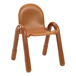 BaseLine Kids Plastic Chair - Natural Wood