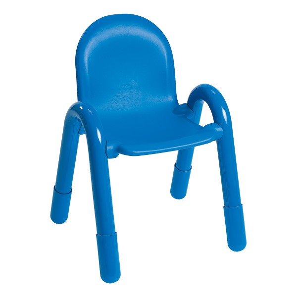 "BaseLine Kids Plastic Chair (13"" Seat Height) - Royal Blue"