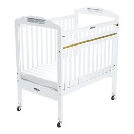 Drop-Gate ClearView Safety Crib (White)