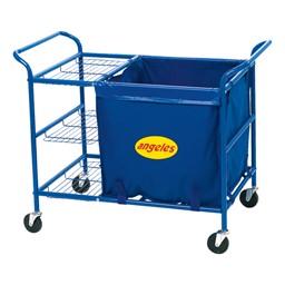 Ball Cart w/ Storage Bin & Shelf