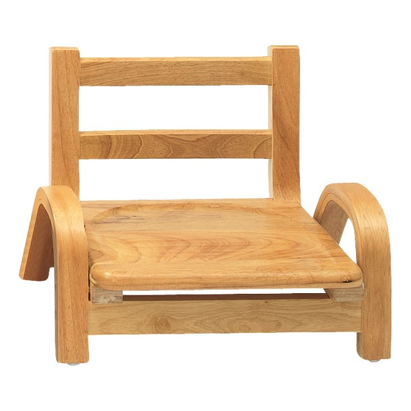 """Natural Wood Collection Ladder Back Chair (5"""" Seat Height)"""