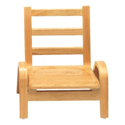 "Natural Wood Collection Ladder Back Chair (7"" Seat Height)"