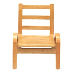 """Natural Wood Collection Ladder Back Chair (9"""" Seat Height)"""