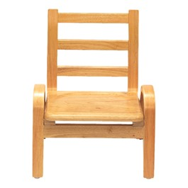 "Natural Wood Collection Ladder Back Chair (9"" Seat Height)"