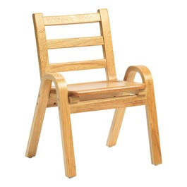 "Natural Wood Collection Ladder Back Chair (11"" Seat Height)"