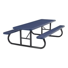 Rectangle Picnic Table (8\' L) - Navy