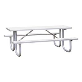 Aluminum Picnic Table w/ Extra Heavy-Duty Frame (8\' L)