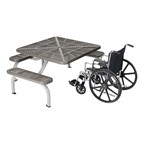 Square ADA Picnic Table - Silver