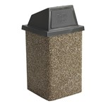Structure Series Outdoor Trash Can - River Rock