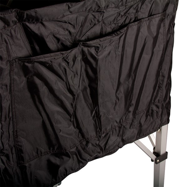 Closeup of exterior pockets on the EZ Fold Ball Cart